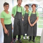 """Das Team der Gaststätte """"Drei Linden"""" Zeckerin"""