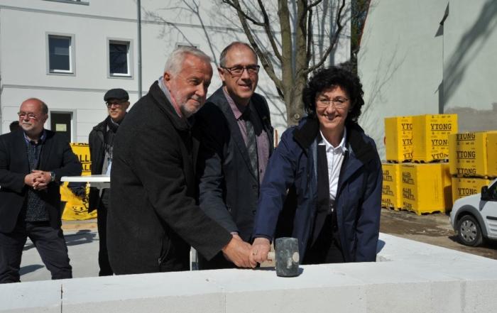 Grundsteinlegung Oscar-Kjellberg-Straße 3